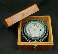 New ListingAntique E. S. Ritchie Gimbal Compass in Wooden Box * 1850�1867 * Nautical Ships