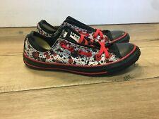 Converse All Star Shoes Low Chucks RARE Carrie Movie Promo Black Red Mens 8