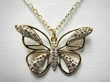 Retired Butterfly Pendant Gold Plated Swarovski Jewelry Retired 5099027
