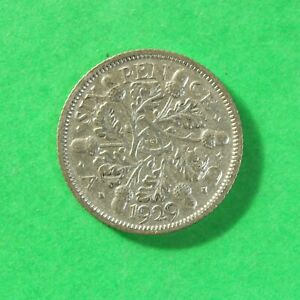 1929 George V Silver Sixpence SNo60645