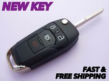 OEM FORD FUSION flip key keyless entry remote fob transmitter+NEW UNCUT BLADE