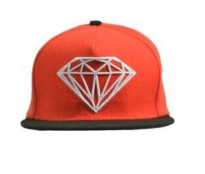 Diamond Supply Co. BRILLIANT Orange-Red Black White Baseball Cap Snapback Hat
