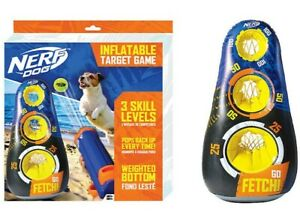 Nerf™ Dog INFLATABLE TARGET GAME Interactive Dog Toy - Weighted Bottom Pops Back