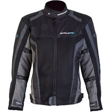 SPADA CORSA GP AIR WATERPROOF MOTORCYCLE JACKET SPORTS SUMMER MESH BLACK GREY