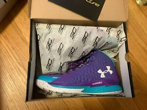Under Armour Curry 1 One Father Son Purple Blue DS NEW