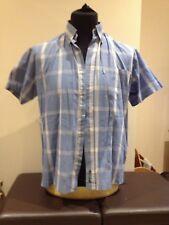 Ben Sherman Blue Check Short Sleeved Casual Shirt  Adult Medium Size 2 (P0218)