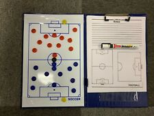 A4 Magnetic Football Coaching Board/Tactics Folder With Pen & Paper