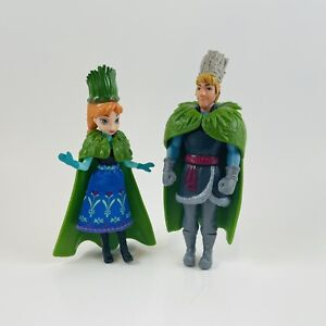Disney Frozen Anna Kristoff Polly Pocket Size dolls Troll Wedding