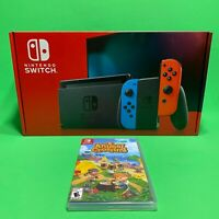 Nintendo Switch 32GB Console Neon and Blue with Animal crossing Game Bundle