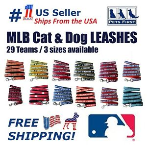 Pets First MLB Dog Leashes, Heavy Duty and Licensed. 29 Teams 3 sizes available.
