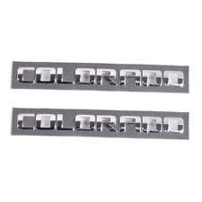 2x Chrome COLORADO Letters L&R Door Emblems for Chevrolet Colorado LT WT Z71 ZR2