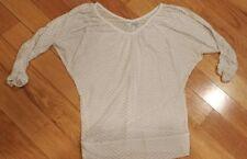 Womens Maurices shirt small sheer white chevron