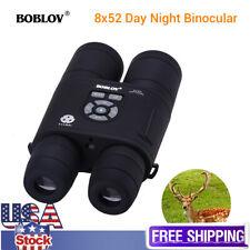 Boblov Night Vision Binoculars 8X52mm Optical Spotting Scope 2592*1440 Photo Us