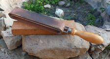 """VINTAGE FRENCH """"AU CHAMOIS"""" LEATHER STROP RAZOR SHARPENER BARBER WITH BOX"""