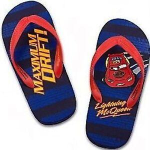 TODDLER Cars Lightning McQueen Flip Flops Boys Sandals blue red Maximum Drift