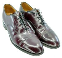 Johnson Murphy Melton Oxford Mens Sz 11.5 D/B Burgundy Calfskin Cap Toe Shoe USA