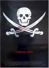 CUTTHROAT ISLAND  MOVIE POSTER ~ ADVANCE SKULL SWORD FOIL 27x40 Original Teaser