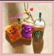 Starbucks Frappe  And peanut Butter And Jelly Fashion Necklace Woman Accessories