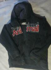 ANIMAL Hoodie Hoody Sweatshirt FLEECE with Faux Fur Lining S Small BM Rare