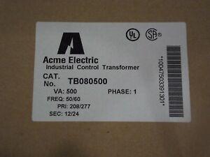 Acme COntrol Transformer #TB080500 500va Pri 208/277 Sec 12/24 Brand New