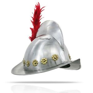 Spanish Morion Medieval Helmet One Size Authentic Replica Collection Pieces