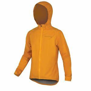 ENDURA MTR Waterproof Packable Cycling Shell Jacket Mountain Bike Mens M Mango