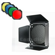 Barn Door Honeycomb Grid Gel Set for Bowens Camera Stuido Flash Strobe Light