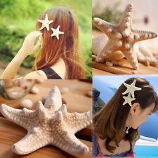 Womens Fashion Elegant Pretty Natural Starfish Sea Star Hairpin Hair Clip LLL