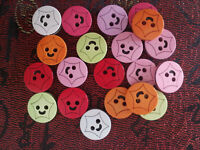20PC Mixed Color Round Plastic Sewing Buttons Lots 15mm 2 Holes N1