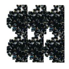 100 Rhinestones  BLACK new lots Arts Crafts OVALS