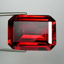 120+ Cts Huge Emerald Octagon (30x22 MM) Lab Simulated Orangish Red Ruby AAA N40