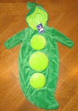 NEW Plush PEA IN THE POD Cute BUNTING HALLOWEEN COSTUME Baby Infant 6-9 Month