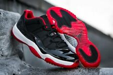 NIKE AIR JORDAN 11 RETRO LOW BG BLACK/TRUE RED-WHITE 528896 012 sz 7y