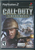 Call of Duty: Finest Hour (Sony PlayStation 2, 2004) (Complete w/ Manual) 🎮🎮🎮