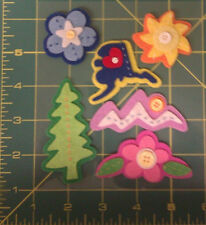 Layered Felt with Button Alaska scrapbook Stickers- alaska, mountain, tree, more
