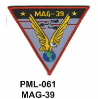 """MAG-39  Embroidered Military Large Patch, 4""""-"""