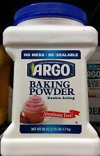 Argo Baking Powder ~ 60 OZ, 3.75 LB ~ Baking,Cookies,Cakes,Food Service