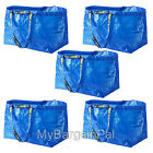 LOT OF 5 IKEA NEW LARGE REUSABLE SHOPPING BAG - LAUNDRY TOTE - GROCERY  FRAKTA