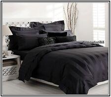 Black Wrinkle Resistant 1200TC 100% Cotton 5pc QUEEN Quilt Doona Cover Set Euros