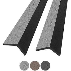 (5,00€/1m) 5 Stück WPC Abschlussleisten Terrassendielen Abdeckleiste 2,2 m