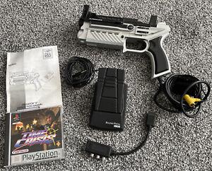 Superscope Logic 3 Predator Light Gun Foot Pedal and Time Crisis Playstation