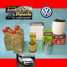 KIT TAGLIANDO VW POLO 6R SEAT IBIZA IV SK FABIA 1.6 TDI 5L CASTROL 5W30 + FILTRI