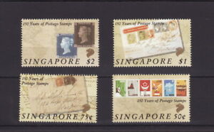 SINGAPORE 1990 Black Penny Anniversary Stamps Set - MINT Unhinged (L373)