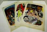 Vintage 1975 Playboy Comic Prints Pop Art Set Of 3 Raymonde FFolkes Buck Brown