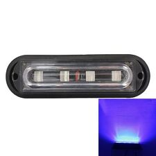 12W 720LM 4-LED Blue Light 18 Flash Patterns Car Strobe Emergency Warning Light