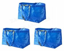 3 x Jumbo Laundry Bags Zipped Reusable Large Strong Shopping Storage Bag UK