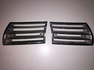 porsche 911 912 horn grilles chrome long 65-68 RARE L R pair OEM