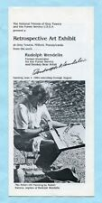 RUDOLPH WENDELIN signed art exhibit flyer (Smokey Bear) the, picture photo