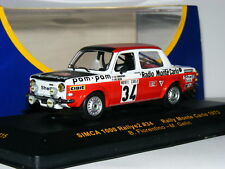 IXO RAC115 Simca 1000 Rallye 1973 Monte Carlo Rally #34 1/43