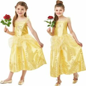 Girls Belle Gem Princess Fancy Dress Disney Beauty and the Beast Childs Costume